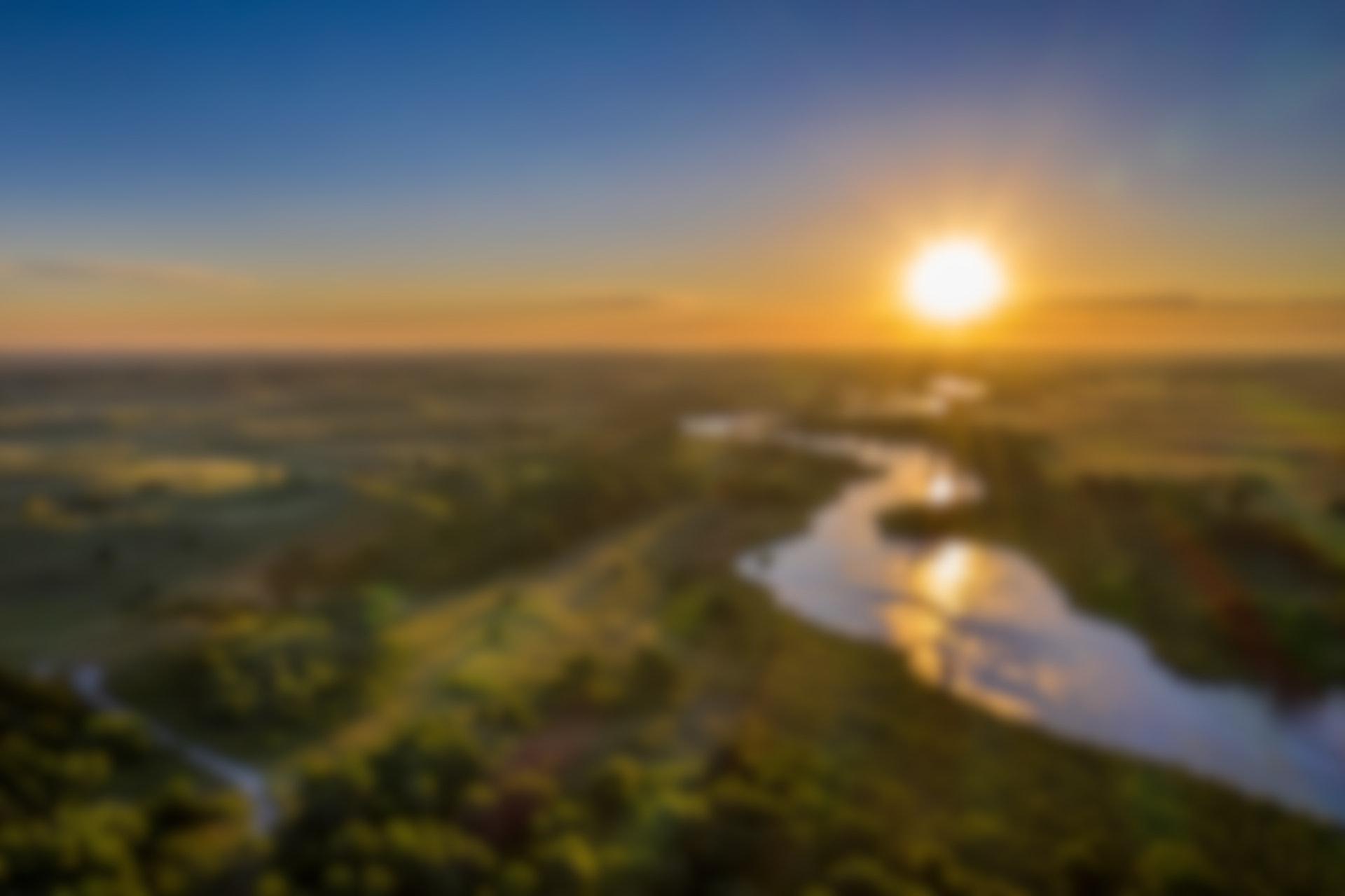 Aerial shot of rural nebraska